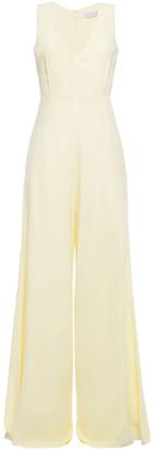 Les Héroïnes Satin-crepe Wide-leg Jumpsuit