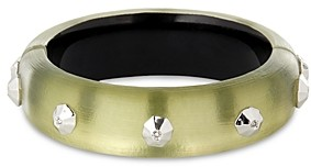 Alexis Bittar Future Antiquity Crystal Octagon-Studded Bangle Bracelet