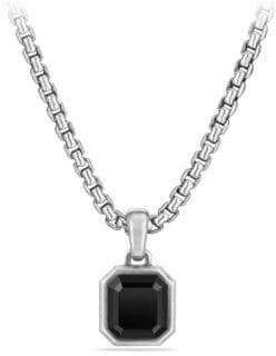David Yurman Emerald-Cut Amulet with Black Onyx