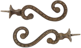Rejuvenation Pair of Cast Brass Victorian Hall Tree Hooks