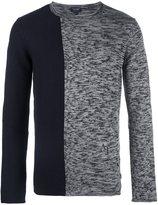 Armani Jeans colour block melange sweatshirt