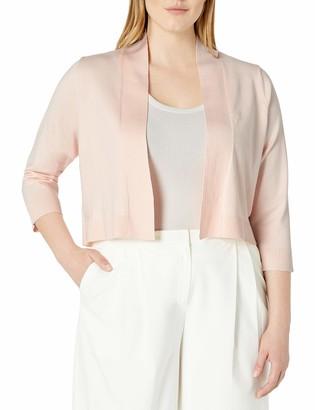 Calvin Klein Women's Plus Size 3/4 Sleeve Knit Shrug