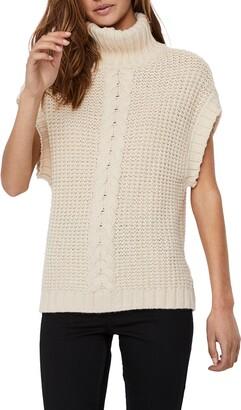 AWARE BY VERO MODA Magic Turtleneck Cap Sleeve Sweater