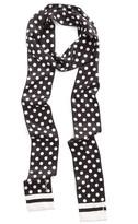 Kate Spade Women's Polka Dot Skinny Silk Scarf