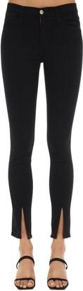 Frame Le High Skinny Denim Jeans W/front Slits