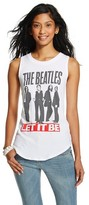 Bravado Women's The Beatles Graphic Muscle Tank -White