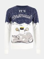 Burton Burton Penguin And Polar Bear Christmas Jumper