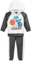 Nannette Baby Boys' 2-Pc. Colorblocked Little Sport Champ Hoodie & Pants Set