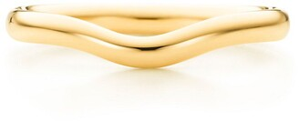 Tiffany & Co. Elsa Peretti wedding band ring in 18k gold, 2 mm wide - Size 10 1/2