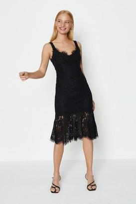 Coast Lace Frill Hem Midi Dress