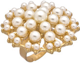 Lolita Jewelry Gold And Multi Pearl Starburst Cocktail Ring