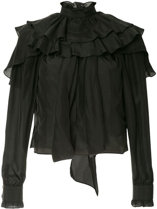 J.W.Anderson Long Sleeve Ruffle Top