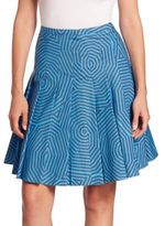 Akris Punto Sunshade Printed Skirt