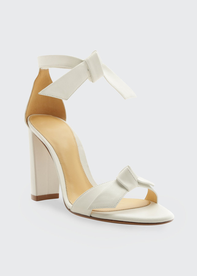 Thumbnail for your product : Alexandre Birman Clarita 90mm Leather Ankle-Tie Sandals
