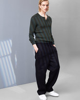 Relaxed Italian Flannel Trousers