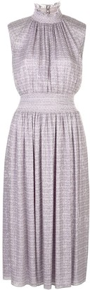 Adam Lippes Smocked-Waist Midi Dress