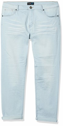 V.I.P.JEANS Junior's Size Skinny Stone Dark Mid-Rise Denim Pants