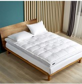 Serta 2-Inch Feather And Down Fiber Top Featherbed - King - White