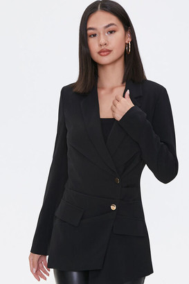 Forever 21 Pleated Crossover Blazer