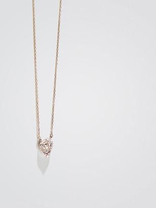 Adina Solid Pave Teardrop Necklace