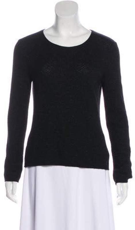 Chanel Metallic Lightweight Sweater Black Metallic Lightweight Sweater