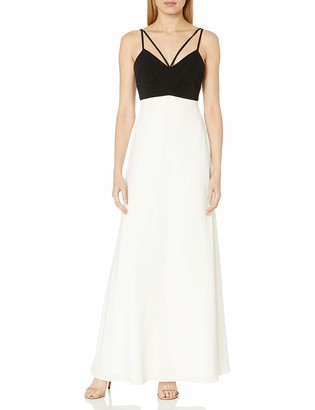 Jill Stuart Jill Women's Colorblock Double-Strap Detail Gown