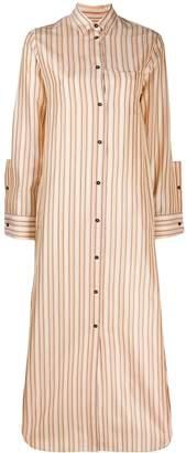 Jil Sander long striped shirt dress