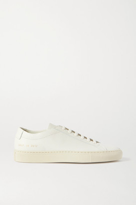 Common Projects Achilles Textured-leather Sneakers - Off-white