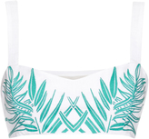 Mara Hoffman Palm-embroidered cropped top