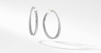 David Yurman The Crossover Collection Xl Hoop Earrings With Diamonds