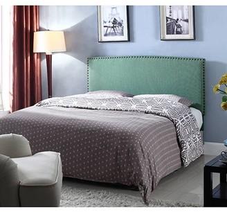 BestMasterFurniture Best Master Furniture Upholstered Platform Headboard, Pistachio Twin