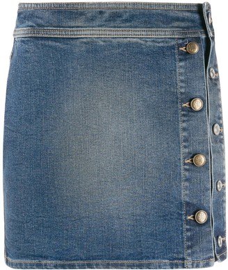 Givenchy buttoned denim mini-skirt