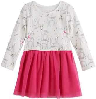 Toddler Girl Jumping Beans Fleece Tulle Dress