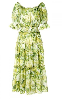 Aggi Taja White-Lime Dress
