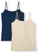 Time and Tru Women's Cami Tank Top, 2-Pack Bundle