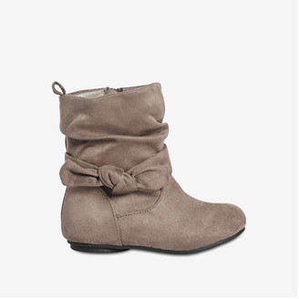 Joe Fresh Toddler Girls' Bow Detail Boots, Taupe (Size 10)