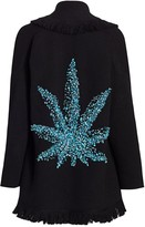 Alanui Calm Tree Sequin Wool & Cashmere Cardigan