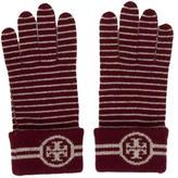 Tory Burch Knit Logo-Embellished Gloves