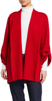 Eileen Fisher Petite Lightweight Boiled Wool Coat, Garnet