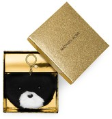 MICHAEL Michael Kors Teddy Bear Fur Pom Pom Key Fob
