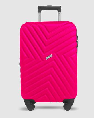 Jett Black Magenta Maze Series Carry On Suitcase