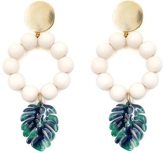 Soli & Sun The Lola Tropical Leaf Statement Earrings