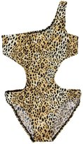 "2 B Real Little Girls' ""Ringed Leopard"" 1-Piece Swimsuit"