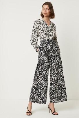 French Connection Delphine Drape Floral Jumpsuit