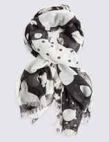 Marks and Spencer Abstract Spotted Print Scarf
