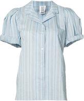 Rosie Assoulin striped rolled shortsleeves shirt - women - Silk/Cotton - M
