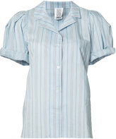 Rosie Assoulin striped rolled shortsleeves shirt - women - Silk/Cotton - S