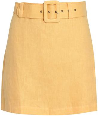 Faithfull The Brand Celia Belted Linen Skort