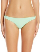 Mara Hoffman Women's Solid Reversible Low Rise Bikini Bottom