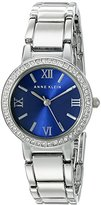 Anne Klein Women's AK/1889BLSV Swarovski Crystal Accented Silver-Tone Bracelet Watch